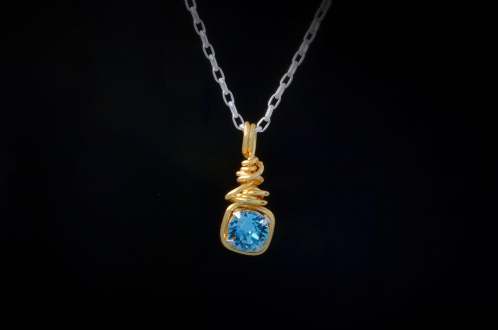 earth grace custom birthstone necklace flintski jewelry
