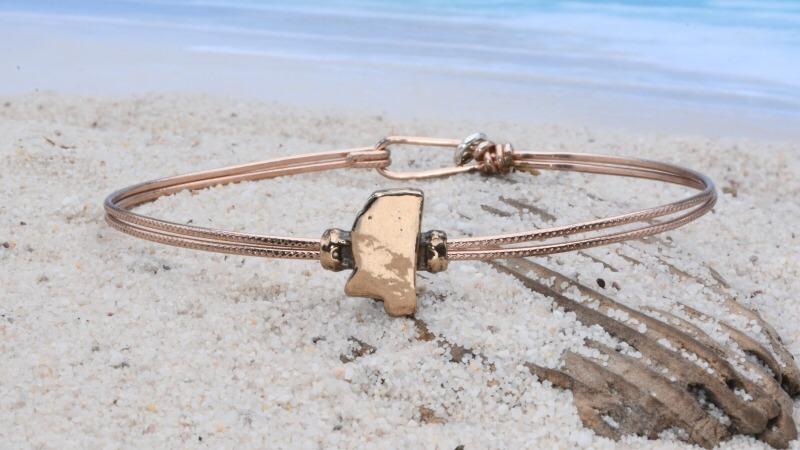 Earth Grace Tiny State Bracelet